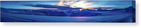 First Sun After Polar Night Canvas Print