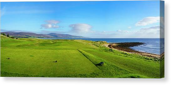 Canvas Print - First Tee At Brora Golf Club, Moray by Panoramic Images