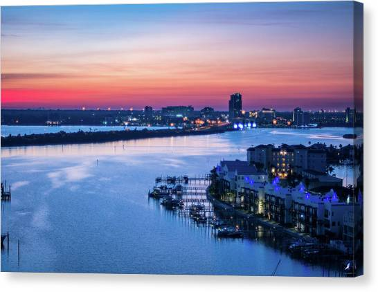 Firstlight Over Clearwater Canvas Print