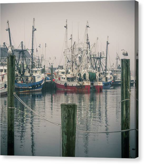 Canvas Print featuring the photograph Fishing Boats by Steve Stanger