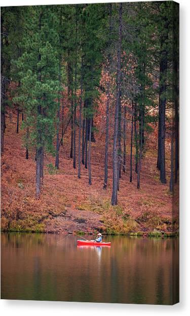 Fishing Fenton Lake Canvas Print