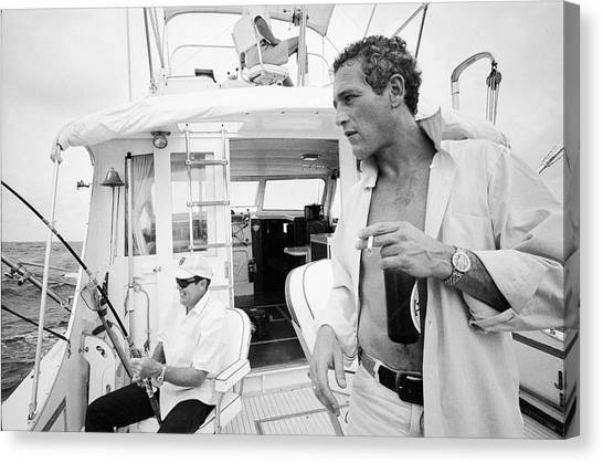 Fishing With Paul Newman Canvas Print
