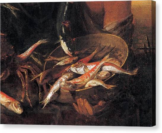 Fishmonger, By Heintz Joseph Il Giovane Canvas Print
