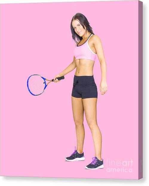 Tennis Players Canvas Print - Fit Active Female Sports Person Playing Tennis by Jorgo Photography - Wall Art Gallery