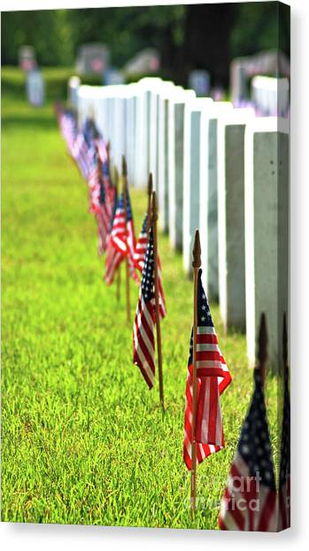 Canvas Print featuring the photograph Flags In by Patti Whitten