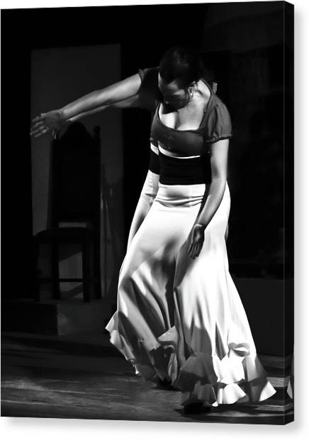 Canvas Print featuring the photograph Flamenco 40 by Catherine Sobredo
