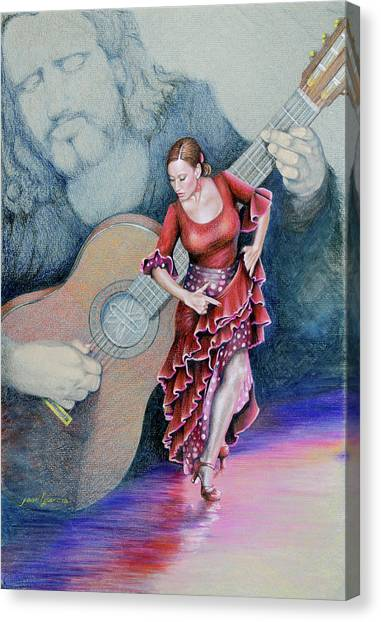 Flamenco Canvas Print
