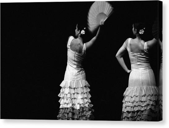 Flamenco Lace Fan Canvas Print by T-immagini