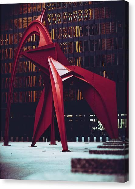 Flamingo A La Plancha Canvas Print