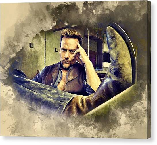Flanery And His Cowboy Boot Canvas Print