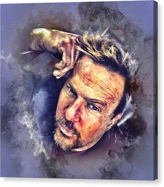 Flanery Watercolor Canvas Print