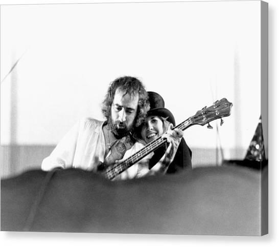 Mac Canvas Print - Fleetwood Mac Performing by Richard Mccaffrey