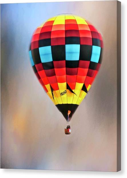 Flight Of Fantasy, Hot Air Balloon Canvas Print