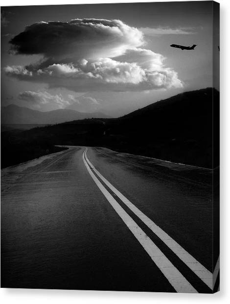 Canvas Print featuring the photograph Flight Path by John Rodrigues