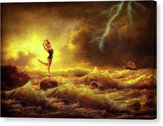 Flirting With Disaster Canvas Print
