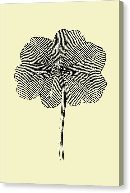Dahlias Canvas Print - Floating Leaf II by Naxart Studio