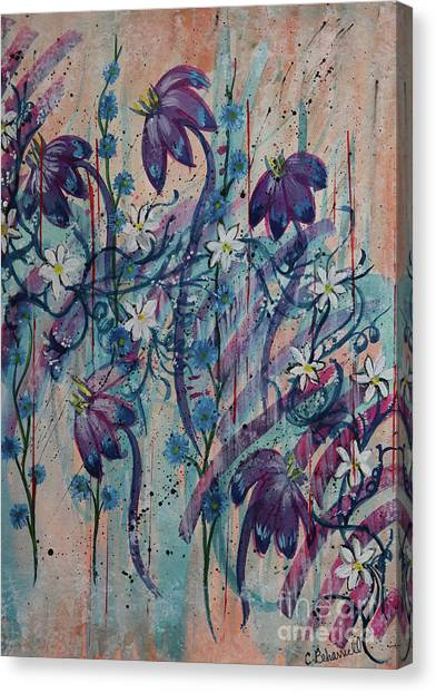 Canvas Print - Floral Daydream Abstract  by Cathy Beharriell