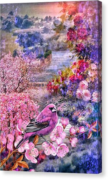 Floral Embedded Canvas Print