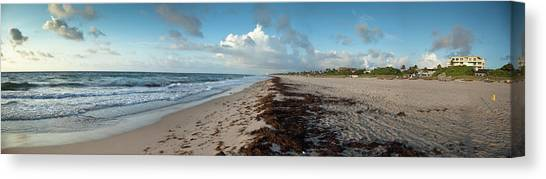 Florida Beach With Gentle Waves And Canvas Print