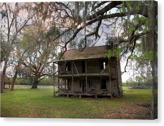 Florida Farmhouse Falls Apart Canvas Print