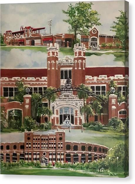 Florida State Fsu Canvas Print - Florida State University by Nancy Raborn