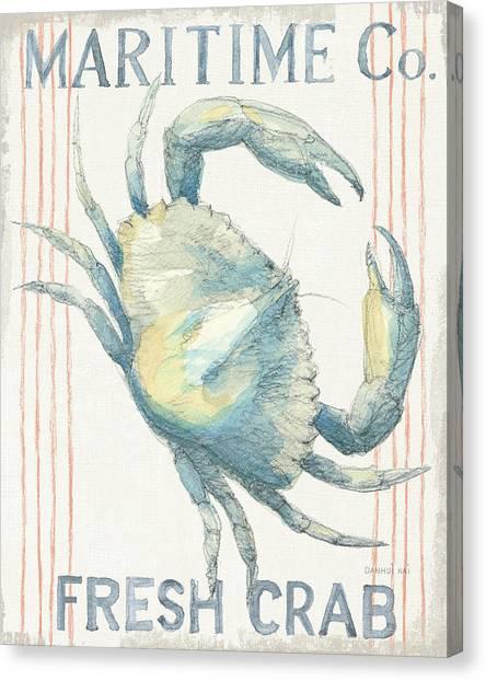 Floursack Nautical IIi Canvas Print by Danhui Nai