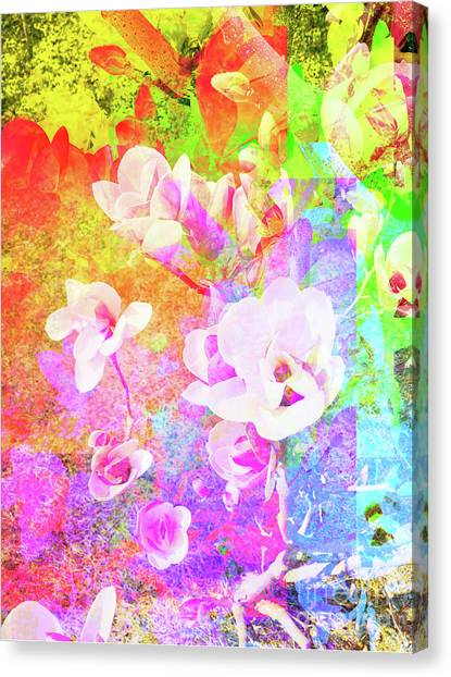 Canvas Print featuring the digital art Flower 1918 by Ron Labryzz