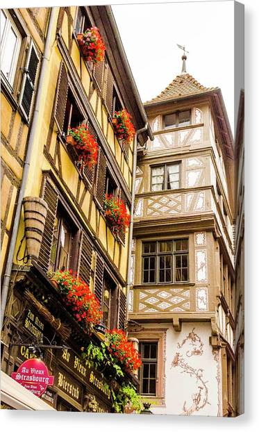 Flower Boxes Strasbourg Canvas Print