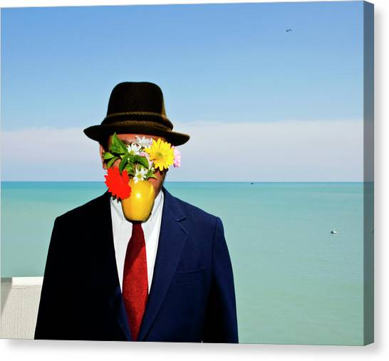 Flower On Face Canvas Print