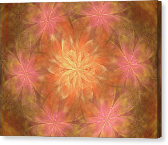 Canvas Print featuring the digital art Flower Power by Angie Tirado