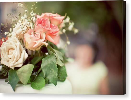 Wedding Bouquet Canvas Print - Flowers by Acid Star Fotografia