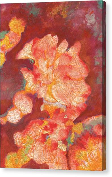 Flowers At Dusk - #ss19dw006 Canvas Print by Satomi Sugimoto