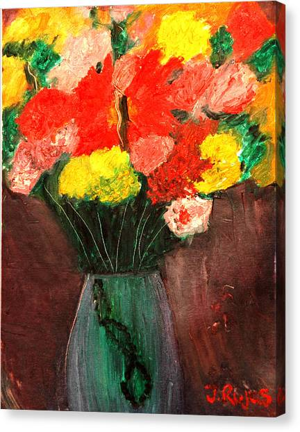 Flowers Still Life Canvas Print