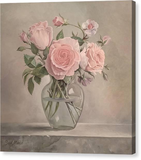 Flowers Vase Canvas Print