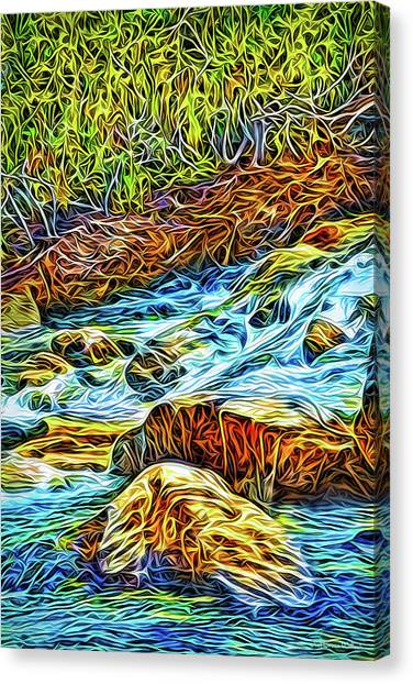 Canvas Print featuring the digital art Flowing Inspiration by Joel Bruce Wallach