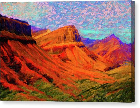 Flowing Rock Canvas Print