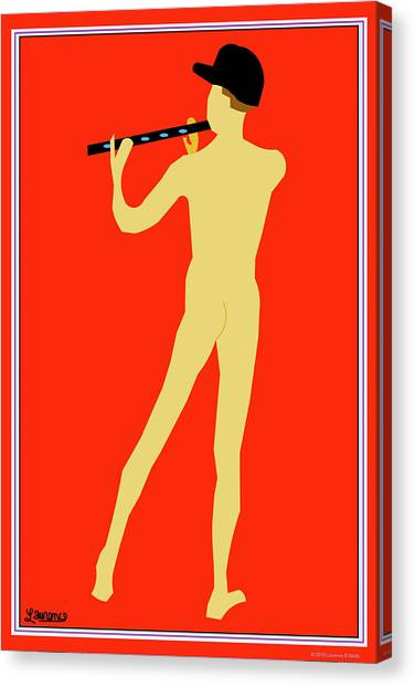 Gay Pride Canvas Print - Flute Player by Laurence Wolfe