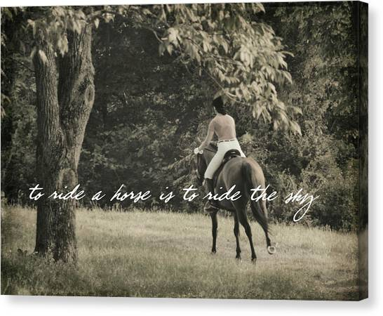 Fly Like Pegasus Quote Canvas Print by JAMART Photography