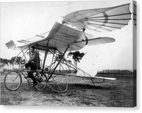 Flying Cycle Canvas Print by Hulton Archive