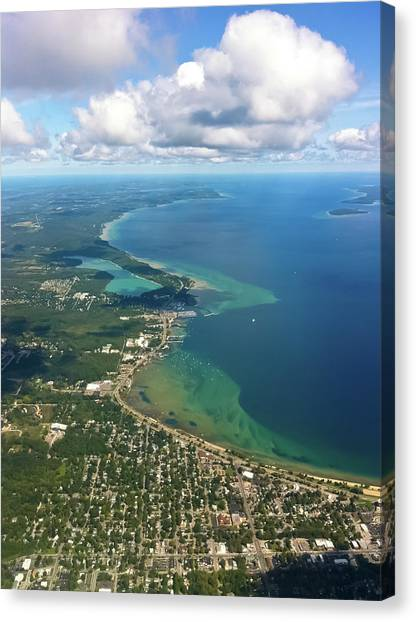 Flying In To Traverse City Canvas Print