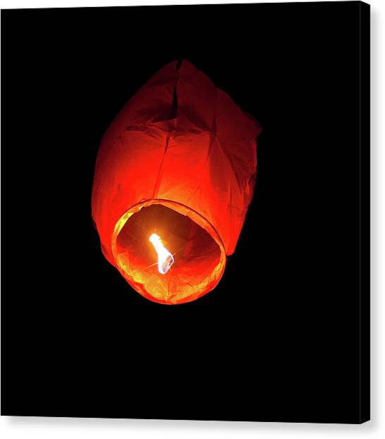Chinese New Year Canvas Print - Flying Lantern by Dimuse