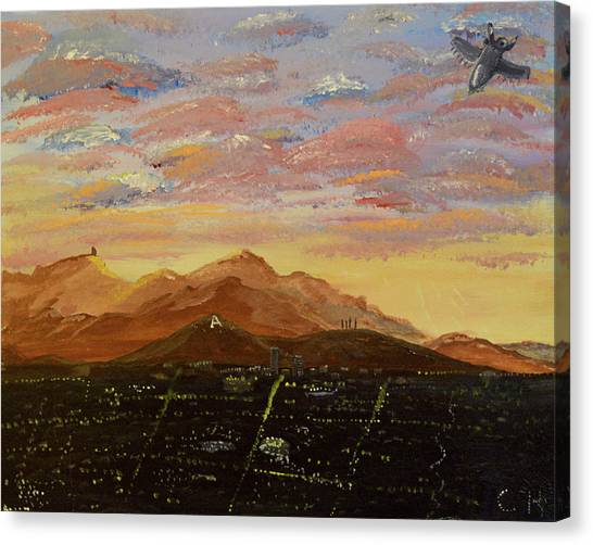 Flying Over Tucson Canvas Print