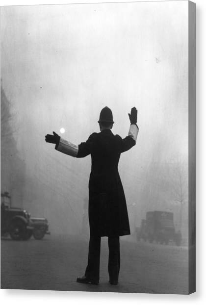Fog Police Canvas Print by Hulton Archive
