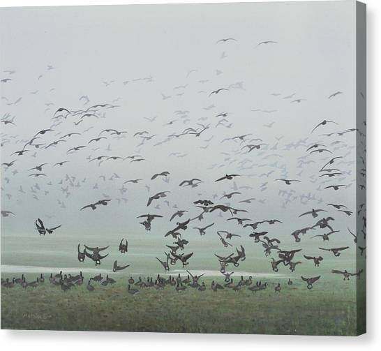 Foggy Arrival Canvas Print