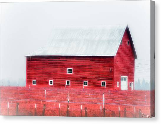 Foggy Country Scene Canvas Print