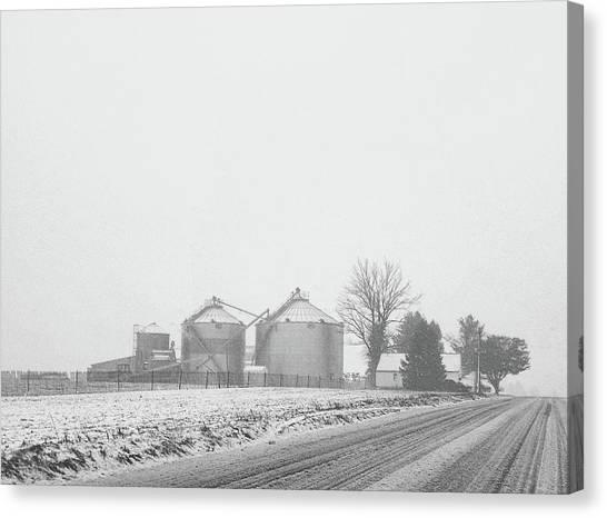 Foggy Farm Canvas Print
