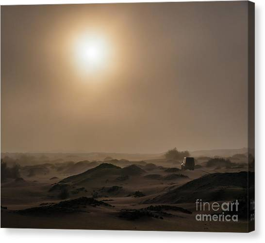 Foggy Morning In The Namib Desert Canvas Print