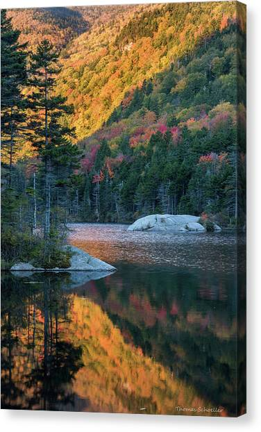 Foliage Burst At Kinsman Notch Canvas Print
