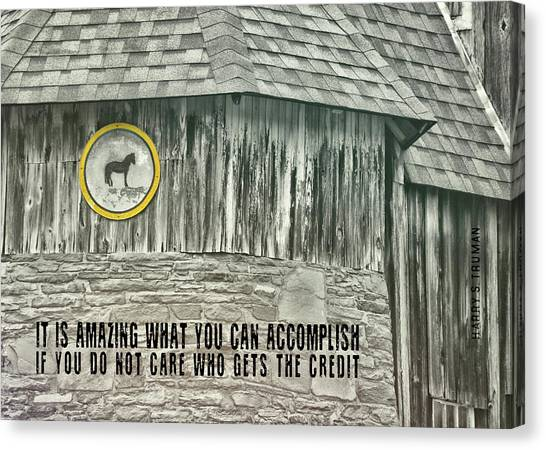 Folk Art Quote Canvas Print by JAMART Photography