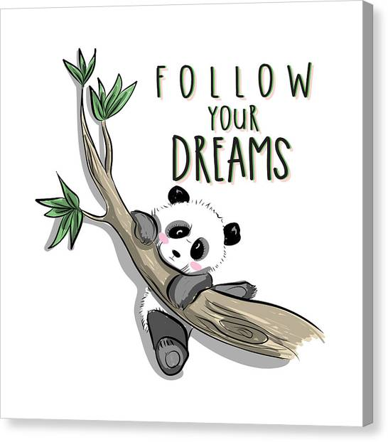 Follow Your Dreams - Baby Room Nursery Art Poster Print Canvas Print
